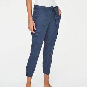 LOFT Cargo Joggers Relaxed Pants Pockets Blue 8